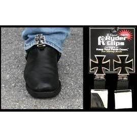 Ryder Clips *DISC Boot Clip Stirrup Maltese Cross