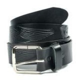 Mascorro Leather Belt Black Wings Engine