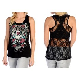 Liberty Wear Tank Devilish Skull