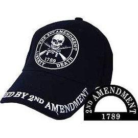 Eagle Emblems Hat Liberty or Death Black
