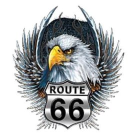 First Coast Biker Gear Shirt Route 66 Eagle