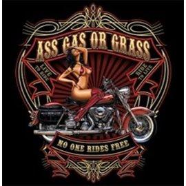 First Coast Biker Gear *DISC Shirt Ass Gas or Grass
