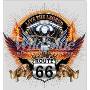 Route 66 Biker Gear Shirt Live the Legend Route 66