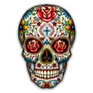 Route 66 Biker Gear Shirt Sugar Skull