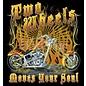Route 66 Biker Gear Shirt Two Wheels Move the Soul