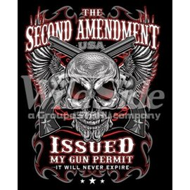 Route 66 Biker Gear Shirt 2nd Amendment Issued