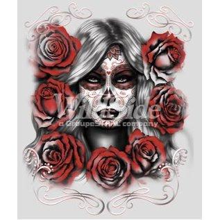 First Coast Biker Gear Shirt Skull Girl W/ Roses