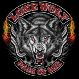 Route 66 Biker Gear Shirt Lone Wolf