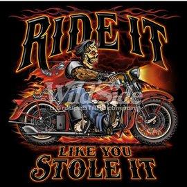 Route 66 Biker Gear *DISC Shirt Ride It Stole It Devil