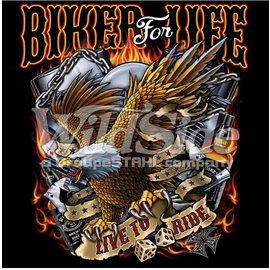 First Coast Biker Gear *DISC Shirt Biker for Life Eagle