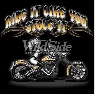 Route 66 Biker Gear Shirt Ride It Stole It Babe