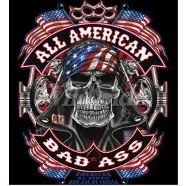 Route 66 Biker Gear Shirt All American Badass
