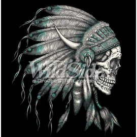 Route 66 Biker Gear Shirt Indian Chief