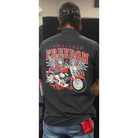 Route 66 Biker Gear *DISC Work Shirt American Freedom