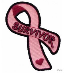 Patch Stop Patch Breast Cancer Survivor Ribbon