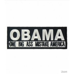Patch Stop Patch OBAMA Mistake 3in