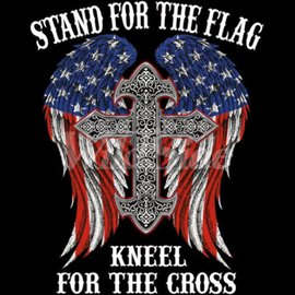 First Coast Biker Gear Shirt Stand For the Flag Wings