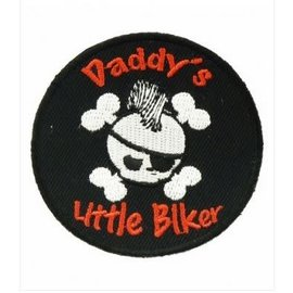 Patch Stop Patch Daddy's Little Biker Skull 3in