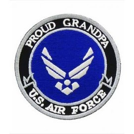 Patch Stop Patch Proud Grandpa Air Force 3in