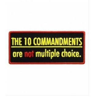 Patch Stop Patch The Ten Commandments 3in