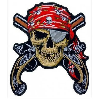 Patch Stop Patch Pirate Skull 5.5in