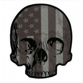 Patch Stop Patch Flag Half Skull 12 in