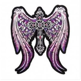 Patch Stop Patch Purple Angelic Wings 8 in