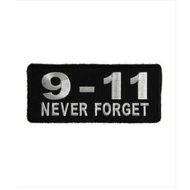 First Coast Biker Gear Patch 9-11 Never Forget 3in