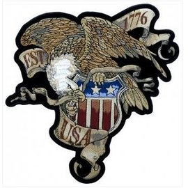 Patch Stop Patch Established 1776 Eagle 11in