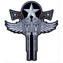 Patch Stop Patch Winged Guns 11in