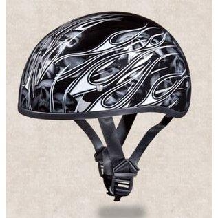 Daytona Helmets Daytona Half Helmet - Silver Flames