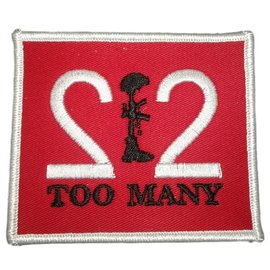 Route 66 Biker Gear Patch 22 Too Many 3 in White/Red