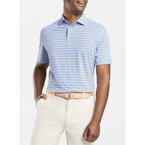 Peter Millar Peter Millar Coley Stripe Stretch Mesh Polo