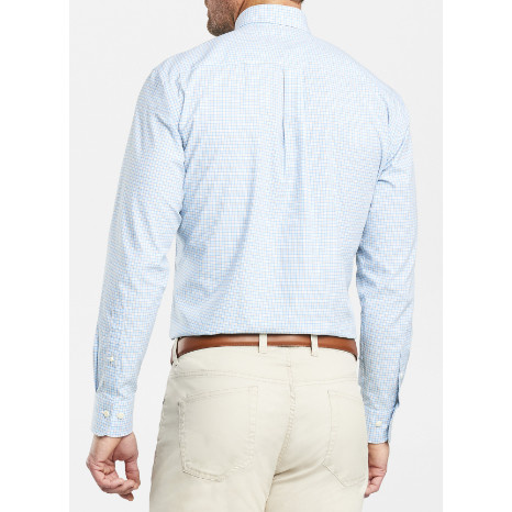 Peter Millar Peter Millar Crown Finish Sullivan Mini-Check Sport Shirt