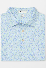 Peter Millar Peter Millar Lyon Printed Fish Stretch Mesh Polo