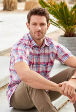 Scott Barber Linen Plaid Shirt