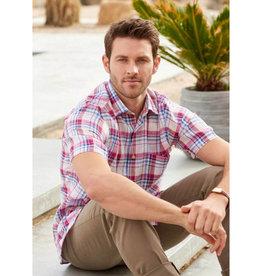 Scott Barber Linen Plaid Shirt