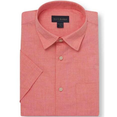 Scott Barber Poplin Solid Mélange Shirt