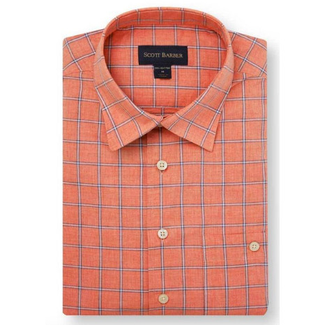 Scott Barber Newport Poplin Check Milange
