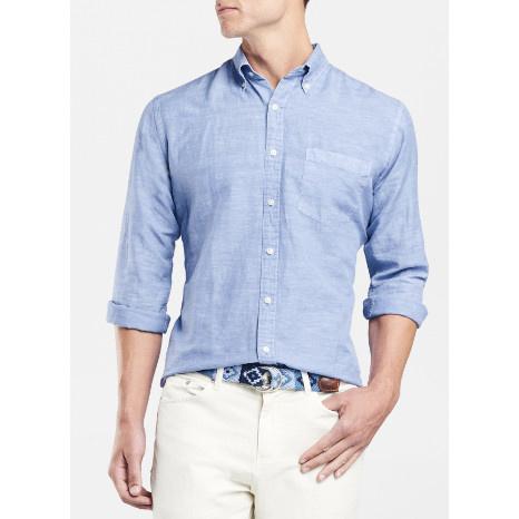 Peter Millar Peter Millar Seaside Garment-Dyed Solid Sport Shirt