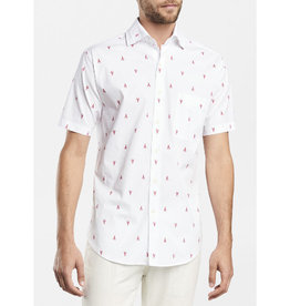Peter Millar Peter Millar Seaside Maine Squeeze Short-Sleeve Sport Shirt