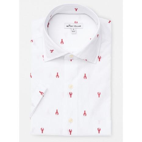 Peter Millar Peter Millar Seaside Maine Squeeze Short-Sleeve Sport Shirt