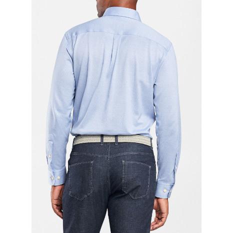 Peter Millar Peter Millar Solid Mesh Jersey Sport Shirt