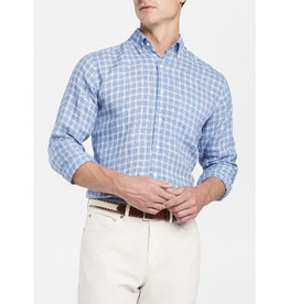 Peter Millar Peter Millar Crown Cool Blue Caves Check Sport Shirt