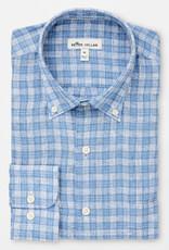 Peter Millar Peter Millar Crown Cool Blue Caves Check Sport Shirt