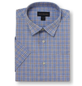 Scott Barber Poplin Mélange Check Shirt