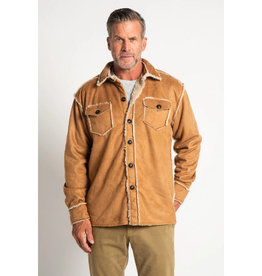 True Grit True Grit Vintage Washed Sherpa Button Jacket