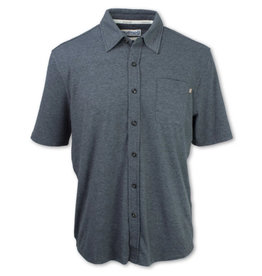 Purnell Purnell Performance Short Sleeve Knit Button Up