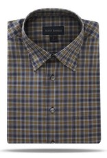 Scott Barber Steel Blue, White and Gold Plaid