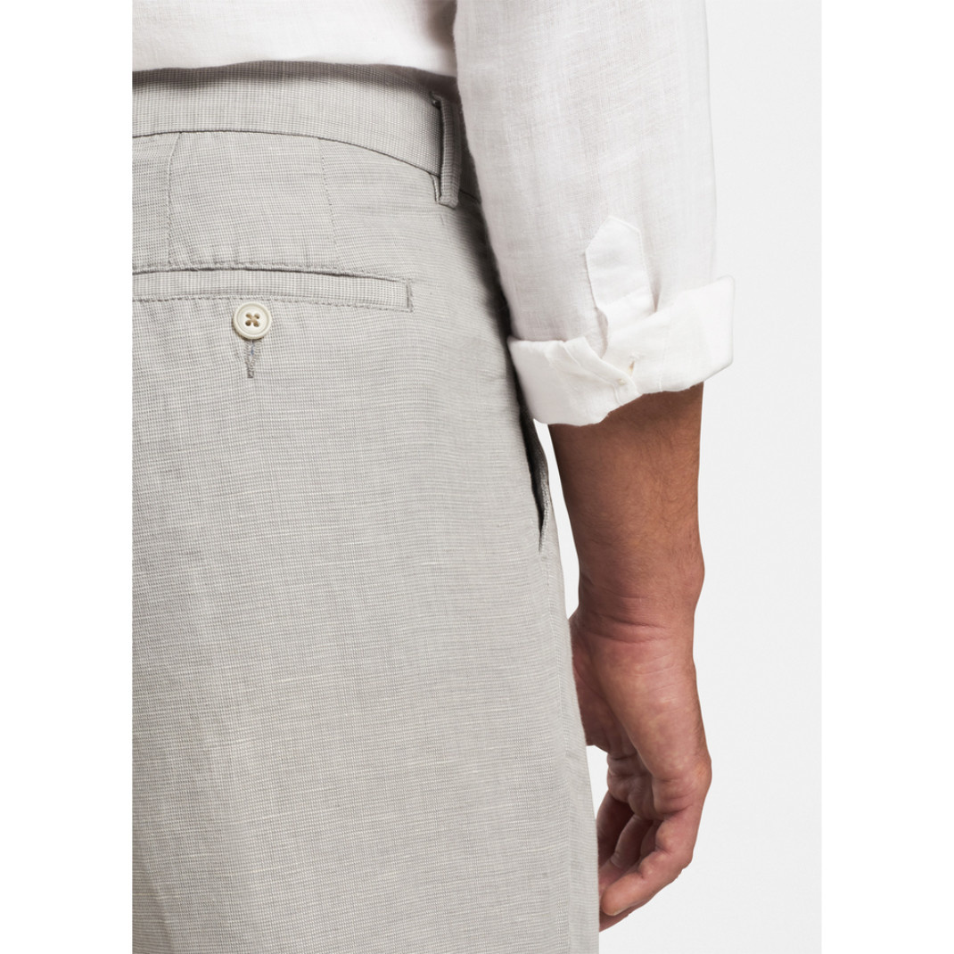Peter Millar Peter Millar Puppytooth Linen-Cotton Short